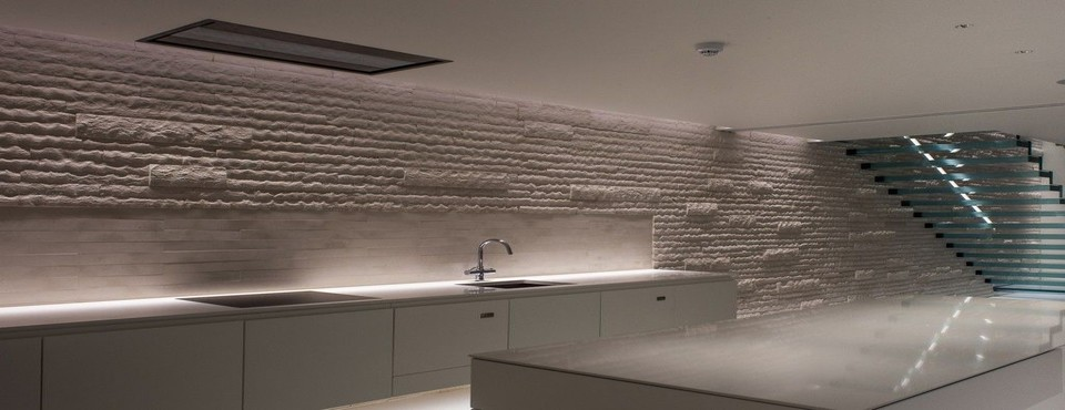 Underground kitchen lighting installation